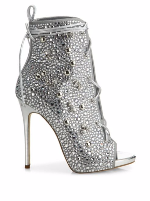 13b78b802ff Number Five  Giuseppe Zanotti – JLo 110 Crystal-Embellished Suede Lace-Up  Booties – 2